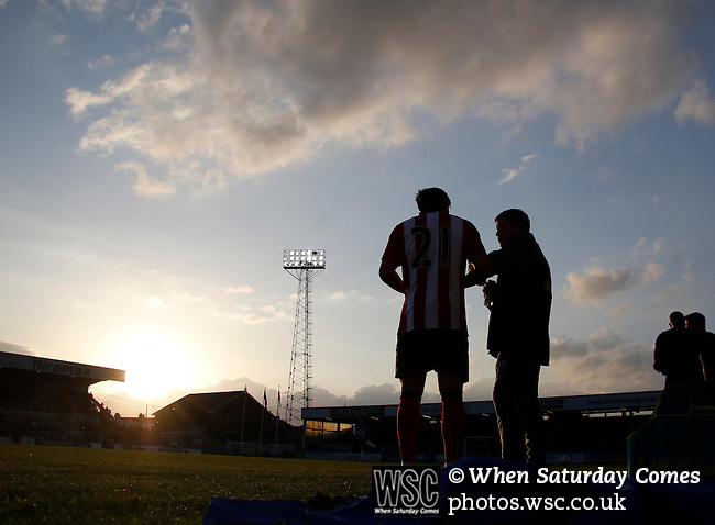 Hartlepool United 0 Sunderland 3, 20/07/2016. Victoria Park, Pre Season Friendly. Hartlepool United v Sunderland. Lynden Gooch of Sunderland receives instructions before the start of the second half. Photo by Paul Thompson.