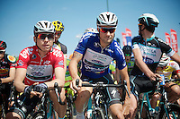 Tony Martin (DEU/OPQS) &amp; Tom Boonen (BEL/OPQS) at the startline<br /> <br /> 2014 Belgium Tour<br /> stage 4: Lacs de l'Eau d'Heure - Lacs de l'Eau d'Heure (178km)