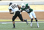 DENTON, TX - AUGUST 31: North Texas Mean Green defensive back Hilbert Jackson (6) against Idaho Vandals tight end Michael LaGrone (86) of the North Texas Mean Green Football vs Idaho Vandals at Apogee Stadium in Denton on August 31, 2013 in Denton, Texas. Photo by Rick Yeatts