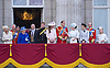 QUEEN AND FAMILY<br /> appear on the balcony of Buckingham Palace to watch the Royal Air Force Flypast as part of the Trooping of the Colour, London_15th June 2013<br /> The annual event marks the Queen's Official Birthday.<br /> Photo Credit: &copy;Dias/NEWSPIX INTERNATIONAL<br /> <br /> **ALL FEES PAYABLE TO: &quot;NEWSPIX INTERNATIONAL&quot;**<br /> <br /> PHOTO CREDIT MANDATORY!!: NEWSPIX INTERNATIONAL<br /> <br /> IMMEDIATE CONFIRMATION OF USAGE REQUIRED:<br /> Newspix International, 31 Chinnery Hill, Bishop's Stortford, ENGLAND CM23 3PS<br /> Tel:+441279 324672  ; Fax: +441279656877<br /> Mobile:  0777568 1153<br /> e-mail: info@newspixinternational.co.uk