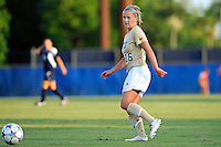 27 August 2011:  FIU's Nicole DiPerna (16) passes the ball in the first half as the FIU Golden Panthers defeated the University of Arkon Zips, 1-0, at University Park Stadium in Miami, Florida.