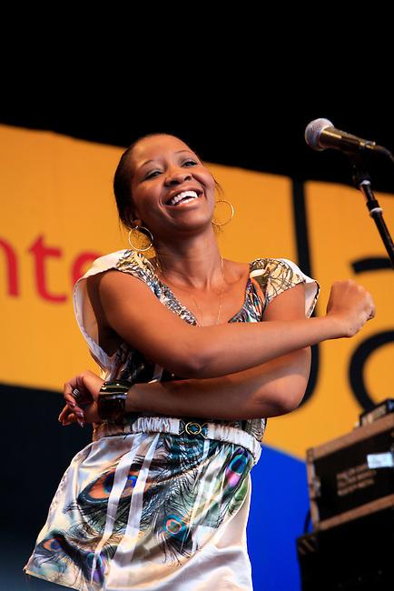 Singer for GEORGE DUKE preforming at the 2009 MONTEREY JAZZ FESTIVAL - CALIFORNIA