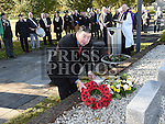 Leonard Hatrick lays a wreath at the War memorial in Ardee. Photo:Colin Bell/pressphotos.ie