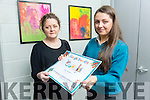Sally O'Mahony from Mercy Secondary School Mounthawk   is In the Doodle 4 Google National Final. Pictured here with teacher Ann O'Shea Daly