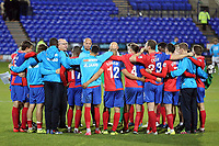 The Daggers huddle afterTranmere Rovers vs Dagenham & Redbridge, Vanarama National League Football at Prenton Park on 11th November 2017