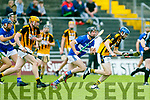 Action from Garvey's Supervalu Kerry SHC Round 3 replay St Brendans v Abbeydorney at Austin Stack Park on Sunday Abbeydorney's Ronan Donovan and St. brendan's John Egan
