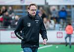 HUIZEN - Hockey - coach Boaz Janssen (HUI)  Hoofdklasse hockey competitie, Huizen-Bloemendaal (2-1) . COPYRIGHT KOEN SUYK