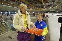 SCHAATSEN: HEERENVEEN: IJsstadion Thialf, 13-03-2004, VikingRace, Wieteke Cramer, Ruurd Dijkstra, ©foto Martin de Jong