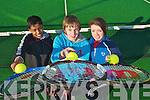 TENNIS LEAGUE: Enjoying the Tralee Tennis Club autumn and winter league on Carlton hotel courts on Sunday l-r: Ashveen Cailakwad, Milltown, Brian Sheehy, Ballyard and Alanna Diggin, Oakpark.