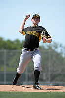 Pittsburgh Pirates pitcher Mitch Keller (2) during a minor league spring training game against the Toronto Blue Jays on March 26, 2015 at Pirate City in Bradenton, Florida.  (Mike Janes/Four Seam Images)
