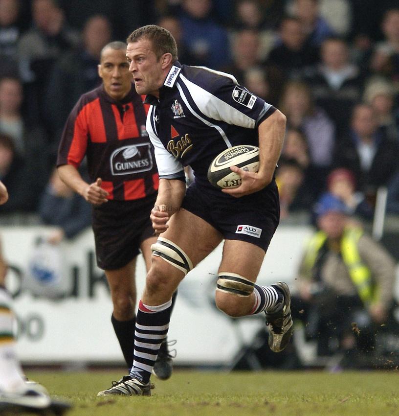 Photo: Jonathan Butler..Bristol Rugby v Northampton Saints. Guinness Premiership. 25/03/2007..Gareth Llewellyn of Bristol.