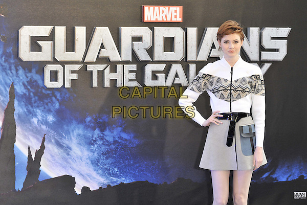 LONDON, ENGLAND - JULY 24: Karen Gillan attends the 'Guardians Of The Galaxy' UK film premiere, The Empire cinema, Leicester Square, on Thursday July 24, 2014 in London, England, UK. <br /> CAP/CAN<br /> &copy;Can Nguyen/Capital Pictures