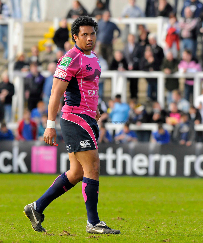 Cardiff's Casey Laulala..Photo: Richard Lee/Richard Lane Photography. Newcastle Falcons v Cardiff Blues. Amlin Challenge Cup Quarter Final. 11/04/2010.