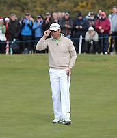 Thursday 28 May 2015; Padraig Harrington playing the 16th<br /> <br /> Dubai Duty Free Irish Open Golf Championship 2015, Round 1 County Down Golf Club, Co. Down. Picture credit: John Dickson / SPORTSFILE
