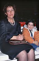 Manuela Marrone, moglie di Umberto Bossi, e il figlio Renzo, 1996