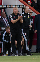 Sheffield United manager Chris Wilder <br /> <br /> Photographer David Horton/CameraSport<br /> <br /> The Premier League - Bournemouth v Sheffield United - Saturday 10th August 2019 - Vitality Stadium - Bournemouth<br /> <br /> World Copyright © 2019 CameraSport. All rights reserved. 43 Linden Ave. Countesthorpe. Leicester. England. LE8 5PG - Tel: +44 (0) 116 277 4147 - admin@camerasport.com - www.camerasport.com