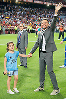 FC Barcelona's coach Luis Enrique Martinez with his daughter during Copa del Rey (King's Cup) Final between Deportivo Alaves and FC Barcelona at Vicente Calderon Stadium in Madrid, May 27, 2017. Spain.<br /> (ALTERPHOTOS/BorjaB.Hojas) /NortePhoto.com