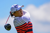 Amy Yang (KOR) watches her tee shot on 2 during Sunday's final round of the 72nd U.S. Women's Open Championship, at Trump National Golf Club, Bedminster, New Jersey. 7/16/2017.<br /> Picture: Golffile | Ken Murray<br /> <br /> <br /> All photo usage must carry mandatory copyright credit (&copy; Golffile | Ken Murray)