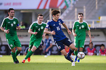 Osako Yuya of Japan (R) in action during the AFC Asian Cup UAE 2019 Group F match between Japan (JPN) and Turkmenistan (TKM) at Al Nahyan Stadium on 09 January 2019 in Abu Dhabi, United Arab Emirates. Photo by Marcio Rodrigo Machado / Power Sport Images
