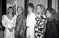 ***FILE PHOTO*** Margot Kidder has passed away at 69****<br /> Margot Kidder, Ellen Burstyn, Barbara Feldon, Kathleen Turner and Carol Kane attending 'Common Performance Benefit' on April 28, 1986 at the St. Regis Hotel in New York City. <br /> CAP/MPI/WAL<br /> &copy;WAL/MPI/Capital Pictures