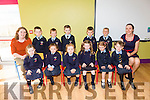 Ms.Marion O'Flaherty's Junior Infants from Killury NS Causeway first day on Tuesday. Pictured front l-r Katie Butler, Carrie Cunningham, Robyn Madden, Eden Harty, Matilda Boulton, Leah Doody. Back l-r Eileen SNA, Garry O'Mahony, Micheal Harty, Cian Whyte, Daniel O'Leary, Kasper Tarasivk, Marion O'Flaherty (Teacher)