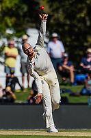 Jack Leach of England during Day 2 of the Second International Cricket Test match, New Zealand V England, Hagley Oval, Christchurch, New Zealand, 31th March 2018.Copyright photo: John Davidson / www.photosport.nz