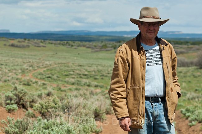 Chris Detrick     The Salt Lake Tribune<br /> Rancher Chris Odekerken poses for a portrait along K2825 on his property on Glendale Bench Wednesday May 8, 2013.