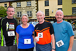 Fred O'Connell, Bridget O'Carroll, Noel Lane and Pa Courtney  who participated in the Castleisland 5km  road race on Friday evening