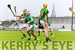 Paudie O'Connor Kilmoyley in action against  Jack Goulding  Ballyduff in the County Senior Hurling Final at Austin Stack Park on Sunday.