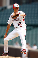 August 8, 2009:  Pitcher Kevin Gausman (12) of Team One during the Under Armour All-America event at Wrigley Field in Chicago, IL.  Photo By Mike Janes/Four Seam Images
