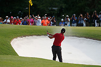 Tiger Woods (USA) hits a sand shot on the 17th hole during the final round of the 100th PGA Championship at Bellerive Country Club, St. Louis, Missouri, USA. 8/12/2018.<br /> Picture: Golffile.ie | Brian Spurlock<br /> <br /> All photo usage must carry mandatory copyright credit (&copy; Golffile | Brian Spurlock)