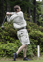 June 23, 2008:  Former Seattle SuperSonics and founder of the tournament, Detlef Schrempf drives his ball down the fairway on hole #5 while playing in the Detlef Schrempf celebrity golf classic held at McCormick Woods golf club in Port Orchard, WA.