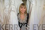 Kathyrn O'Sullivan displaying her designer wedding dresses