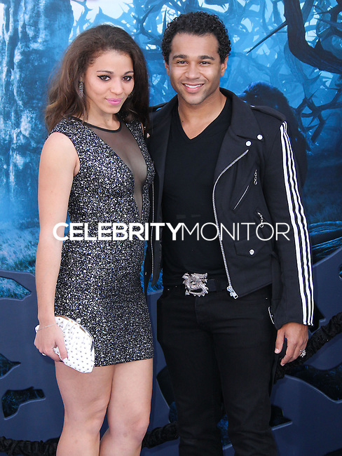 HOLLYWOOD, LOS ANGELES, CA, USA - MAY 28: Hunter Reivers, Corbin Bleu at the World Premiere Of Disney's 'Maleficent' held at the El Capitan Theatre on May 28, 2014 in Hollywood, Los Angeles, California, United States. (Photo by Xavier Collin/Celebrity Monitor)