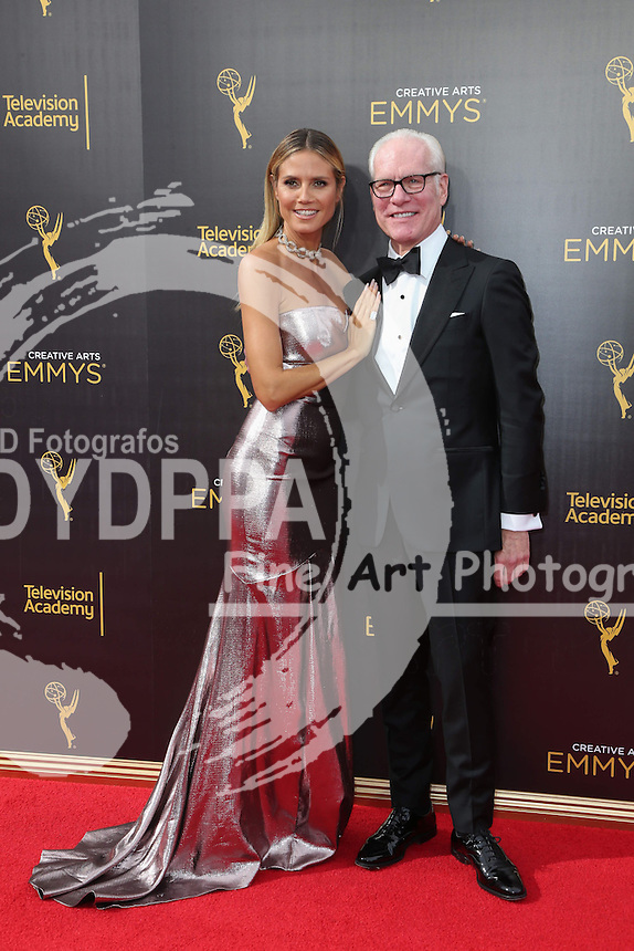 **ALL ROUND PICTURES FROM SOLARPIX.COM**<br /> **SOLARPIX RIGHTS - UK, AUSTRALIA, DENMARK, PORTUGAL, S. AFRICA, SPAIN &amp; DUBAI (U.A.E) &amp; ASIA (EXCLUDING JAPAN) ONLY**<br /> Caption:<br /> 2016 Creative Arts Emmy Awards Arrivals - Microsoft Theatre held at The Hearn Court in Los Angeles.<br /> This pic:Heidi Klum &amp; Tim Gunn<br /> **U.K ONLINE USAGE &pound;25 PER PIC**<br /> JOB REF:19545  PHZ/PR  DATE:11.09.2016<br /> **MUST CREDIT SOLARPIX.COM AS CONDITION OF PUBLICATION**<br /> **CALL US ON: +34 952 811 768**