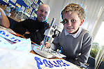 Welsh Water - National Science Week 2012..Riley Cope from Abercerdin Primary School with PCSO Andrew Sweeney...10.03.12.©STEVE POPE