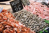 ESP, Spanien, Andalusien, Provinz Cádiz, Jerez de la Frontera: Markt, Fische, Muscheln, Krabben  | ESP, Spain, Andalusia, Province Cádiz, Jerez de la Frontera: market, fish, shells, crabs