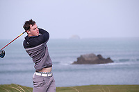 Jack McDonnell (MU) during the final of the Irish Students Amateur Open Championship, Tralee Golf Club, Tralee, Co Kerry, Ireland. 12/04/2018.<br /> Picture: Golffile | Fran Caffrey<br /> <br /> <br /> All photo usage must carry mandatory copyright credit (&copy; Golffile | Fran Caffrey)