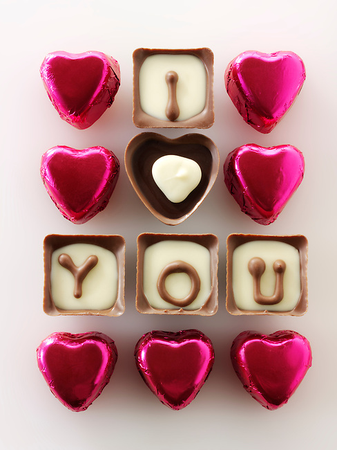 """ I love you "" chocolates stock photos for Valentines or any love message. The perfect ""I love you"" stock image. Ready to cut out from Funky Stock Photos libr"