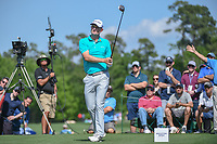 Justin Rose (GBR) watches his tee shot on 3 during round 1 of the Houston Open, Golf Club of Houston, Houston, Texas. 3/29/2018.<br /> Picture: Golffile | Ken Murray<br /> <br /> <br /> All photo usage must carry mandatory copyright credit (© Golffile | Ken Murray)