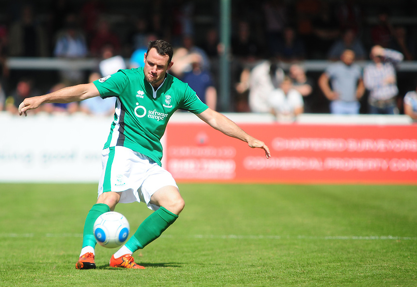 Lincoln City's Lee Beevers<br /> <br /> Photographer Andrew Vaughan/CameraSport<br /> <br /> Football - Vanarama National League - Woking v Lincoln City - Saturday 6th August 2016 - The Kingfield Stadium - Woking<br /> <br /> &copy; CameraSport - 43 Linden Ave. Countesthorpe. Leicester. England. LE8 5PG - Tel: +44 (0) 116 277 4147 - admin@camerasport.com - www.camerasport.com