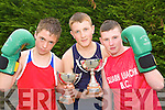 Exciting young Kerry boxers back in training to try to win Munster and All Ireland titles this year Jack O'Grady Ballyduff, Michael Ahern Knocknagoshel and Robert O'Brien Castleisland