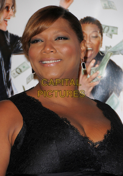 """QUEEN LATIFAH.Overature Pictures' L.A. Premiere of """"Mad Money"""" held at The Mann Village Theatre in Westwood, California, USA..January 9th, 2008.headshot portrait earrings black lace .CAP/DVS.©Debbie VanStory/Capital Pictures"""