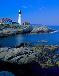 Cumberland County, ME   <br /> Portland Head Lighthouse (1791) stands above the rocky coast at Cape Elizabeth on Casco Bay.  Maine's oldest lighthouse