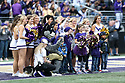 SEATTLE, WA - SEPTEMBER 14: Washington Cheer members posed with Austin Everett Foundation Honorees during the college football game between the Washington Huskies and the Hawaii Rainbow Warriors on September 14, 2019 at Husky Stadium in Seattle, WA.