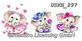 Kayomi, CUTE ANIMALS, LUSTIGE TIERE, ANIMALITOS DIVERTIDOS, paintings+++++,USKH297,#ac#, EVERYDAY,elephant,elephants,stickers