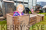 Anyone for Tea? Pictured at the Iveragh Vintage Club's Annual Field day on Sunday was Samantha O'Sullivan from Scarriff, Waterville.