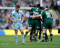 Martin Roberts of Northampton Saints looks dejected as Leicester Tigers celebrate winning the Aviva Premiership Final between Leicester Tigers and Northampton Saints at Twickenham Stadium on Saturday 25th May 2013 (Photo by Rob Munro)