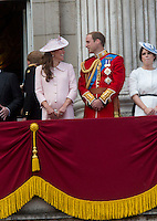 Kate, Duchess Of Cambridge & William join the Royal family at the Trooping The Colour - London