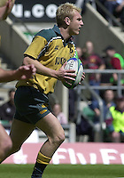 25/05/2002 (Saturday).Sport -Rugby Union - London Sevens.England vs Australia.Peter Hewat[Mandatory Credit, Peter Spurier/ Intersport Images].